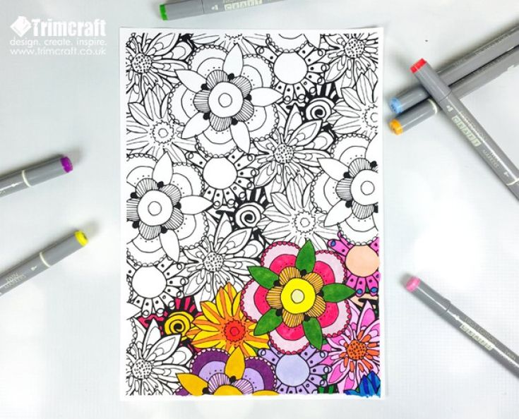 join the colouring craze with the free printable trimcraft adult colouring papers