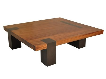 Large square coffee table with solid salvaged wood. Rotsen Cocktail tables.