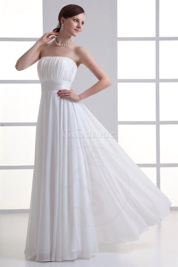 Robe de mariée nature facile grandiose de traîne courte a-ligne - photo 3