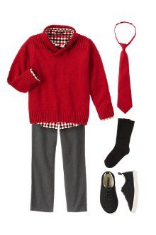 Christmas outfit boys- LOVE this look!  Coordinating outfits for girls perfect…