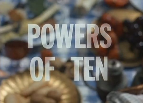 "Interesting film to demonstrate what ""powers of ten"" can look like in real life."