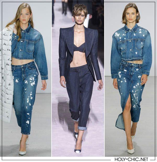 Jeans and denim suits in Oscar de la Renta and Tom Ford collections SS 2018 #denim #trends2018 #tomford #oscardelarenta #jeans #jeans2018 #denim2018