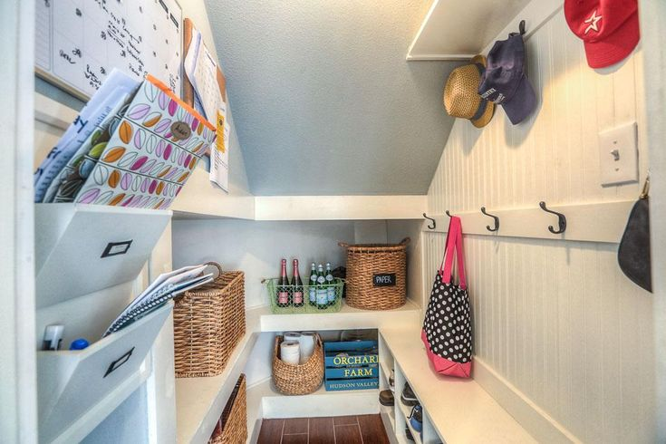 under stairs mudroom - Google Search