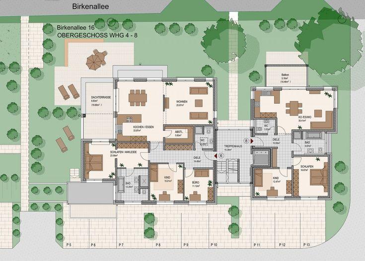 moderner grundriss mehrfamilienhaus