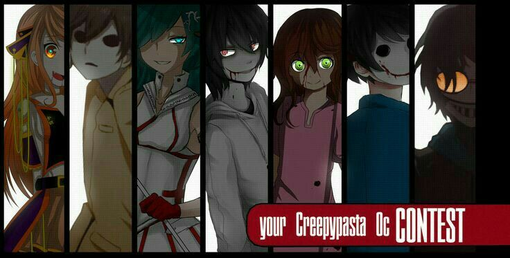 Creepypasta characters, Masky, Jeff the Killer, Suicide Sally, Bloody Painter, Ticci Toby, text; Creepypasta  Please tell me the names of the missing characters if you know