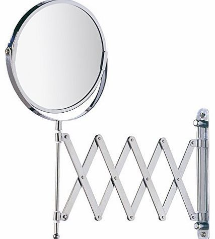 Wenko Exclusive Telescopic Cosmetic Wall Mirror, chrome, 3-x magnification Exclusive wall mirrorOne side with 100% mirror surfaceOther side with 300% magnifying mirrorSwivel and height adjustable (Barcode EAN = 4008838151655). http://www.comparestoreprices.co.uk/bathroom-mirrors/wenko-exclusive-telescopic-cosmetic-wall-mirror-chrome-3-x-magnification.asp