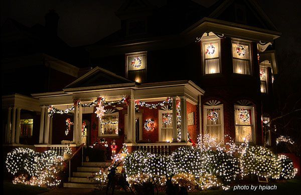 Houses Decorated with Christmas Lights Christmas Light Fight