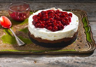 Cheesecake με Merenda και βύσσινο-featured_image