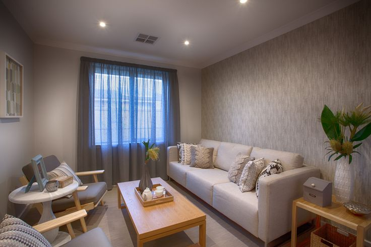 Such a beautiful subtle wallpaper in our display home