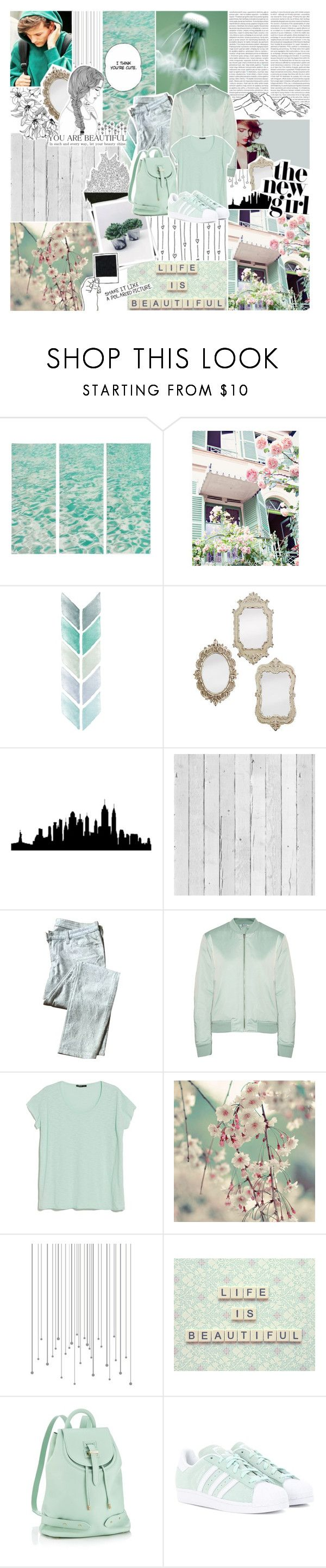 """""""Life Is Beautiful"""" by xcuteniallx ❤ liked on Polyvore featuring WALL, Piet Hein Eek, Oris, 7 For All Mankind, T By Alexander Wang, MANGO, Shabby Chic, GALA, Meli Melo and adidas Originals"""