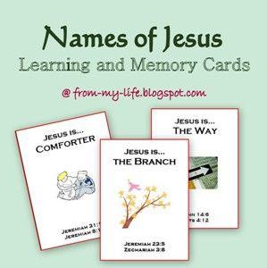 Free Names of Jesus Printable Memory Cards