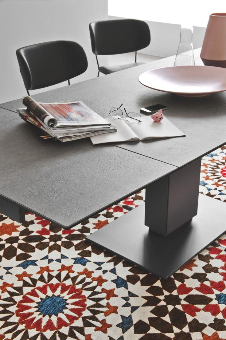 Echo Is A Functional And Modern Extendable Dining Table With A Sleek  Design. It Features