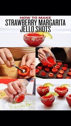 Strawberry Vodka Jello Shots