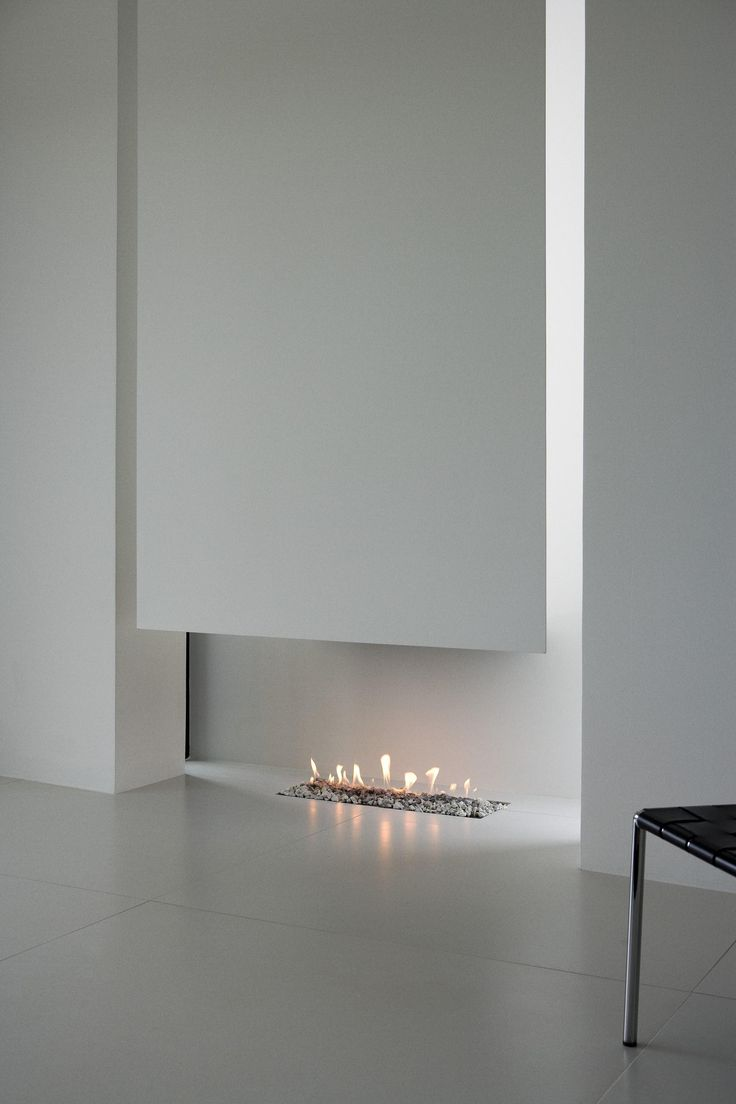 #minimalist #fireplace at the B25 House by PK Arkitektar