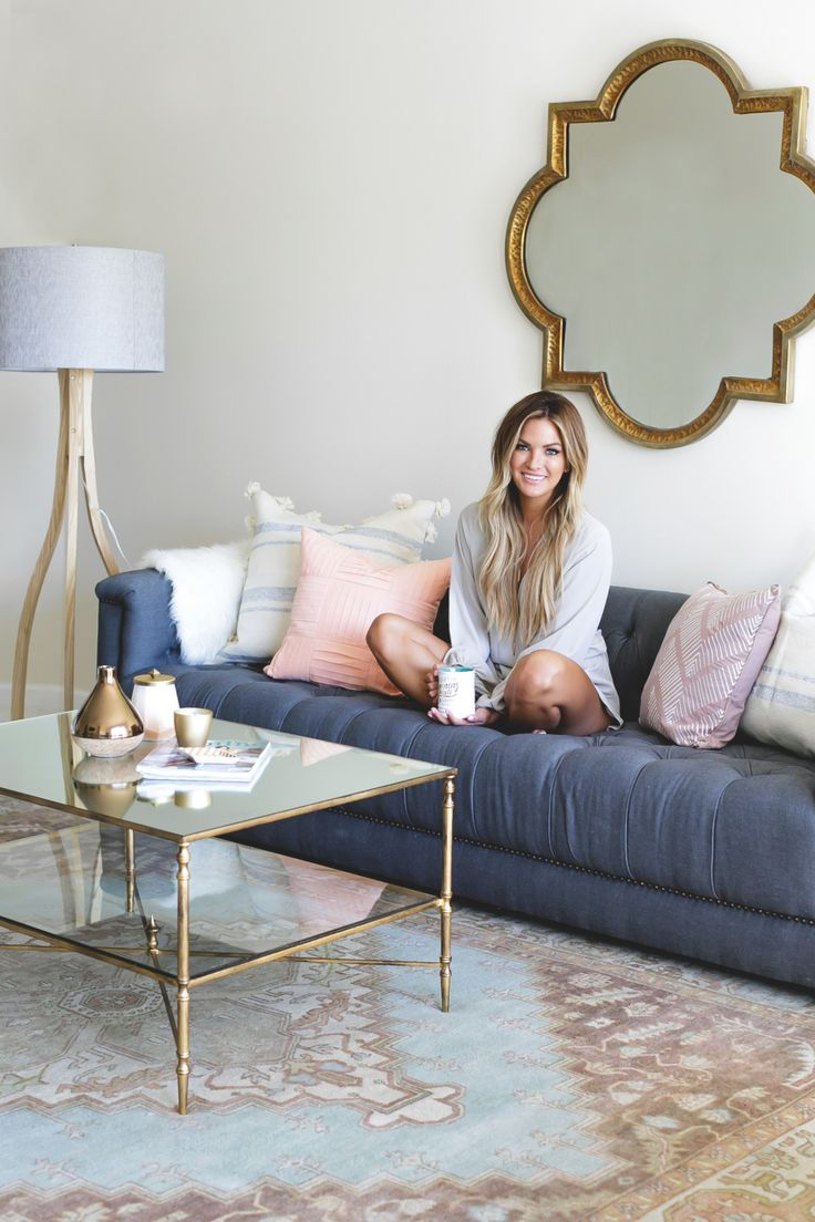 The Bachelor's Becca Tilley has one glamorous living room: Photography : Monica Wang Read More on SMP: http://www.stylemepretty.com/living/2016/10/14/this-bachelorette-has-the-winning-combo-for-a-stunning-living-room/