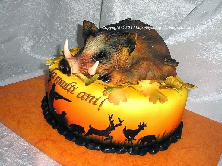 hog hunter decor | Pin Hog Hunting Cakes On Pinterest Picture