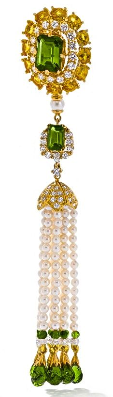 Ganjam's Nizam Collection. With green tourmalines, yellow sapphires, pearls, and diamonds