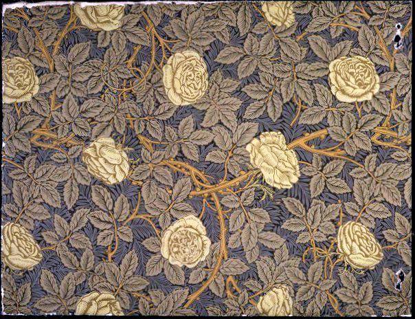 Yellow Roses wallpaper by William Morris, 1877 | V & A Museum. #williammorris #design