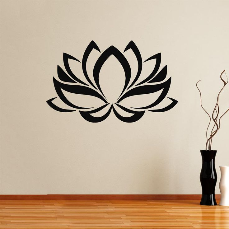 Lotus flower,  αυτοκόλλητο τοίχου,12,50 €,https://www.stickit.gr/index.php?id_product=17829&controller=product