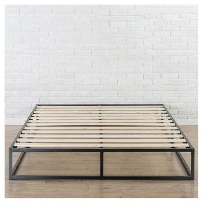 Postureloft Gramercy Foundation Black Metal Bed Frame Twin