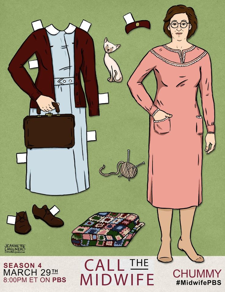 Presenting the Chummy doll!  Collect all of the CALL THE MIDWIFE paper dolls and show us where you take them! #MidwifePBS