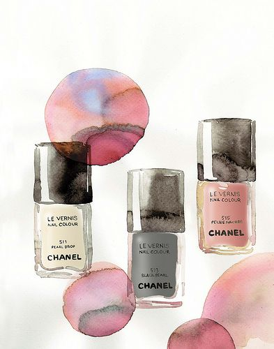 Chanel spring nail polish print on Maquette.