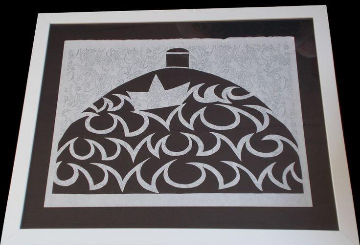 cupola. paper cutting, carta washi, 2015