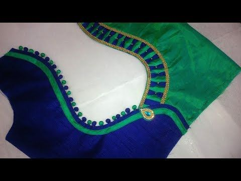 9ed9b6f7a42e Patch Work design For Saree Blouse Cutting and Stitching 2018 - YouTube