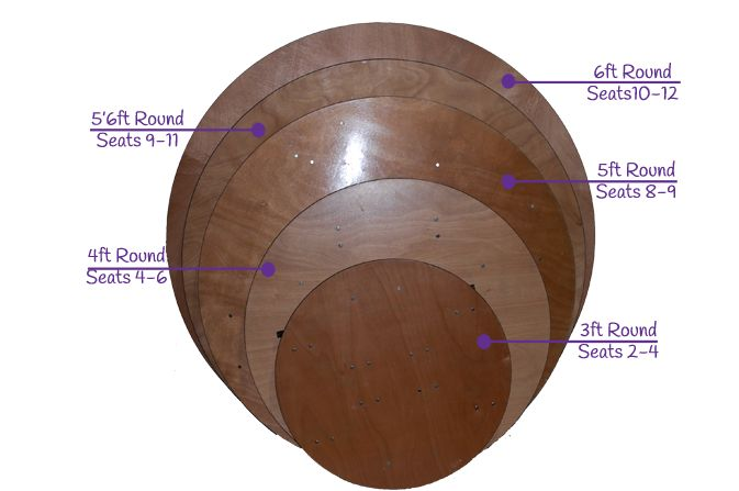 Round Table Hire ǀ Wedding Furniture ǀ Round Banqueting Table Hire