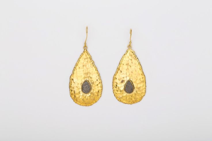 Drop in the Ocean Earrings_Shiny - Gold plated