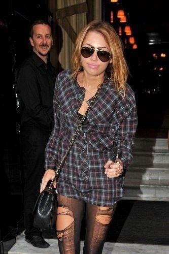 Miley Cyrus Leaving her Hotel in Paris September 5 2010