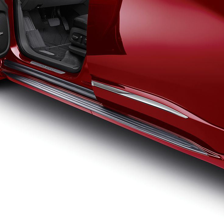 Get in and out of your Traverse with ease with these stylish Molded Assist Steps in Cajun Red Tintcoat These Chevrolet Accessories assist steps feature a textured step pad for improved footing and direct chassis mounting for maximum support Designed engineered and tested by Chevrolet exclusively for the All New Chevrolet Traverse Designed to Color Coordinate with the Bodycolor moldings provided on the Premier and High Country Models Use Black Molded Assists Part 84357961 with LS LT and RS…
