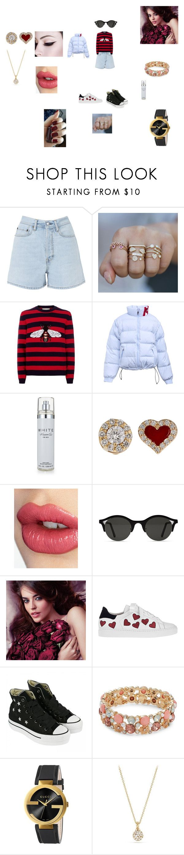 """""""Hot Winter"""" by annali1983 ❤ liked on Polyvore featuring Acne Studios, Gucci, Kenneth Cole, Alison Lou, Charlotte Tilbury, Avon, Steffen Schraut, Converse, Design Lab and David Yurman"""