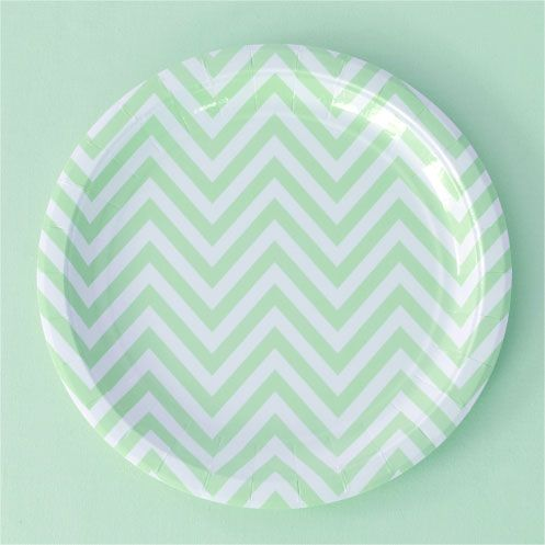 Chevron Paper Plates - 9\  Green for $8.99 from The TomKat Studio Party Shop  sc 1 st  Pinterest & 21 best Edenfield Baby Shower images on Pinterest | Food Ice cream ...