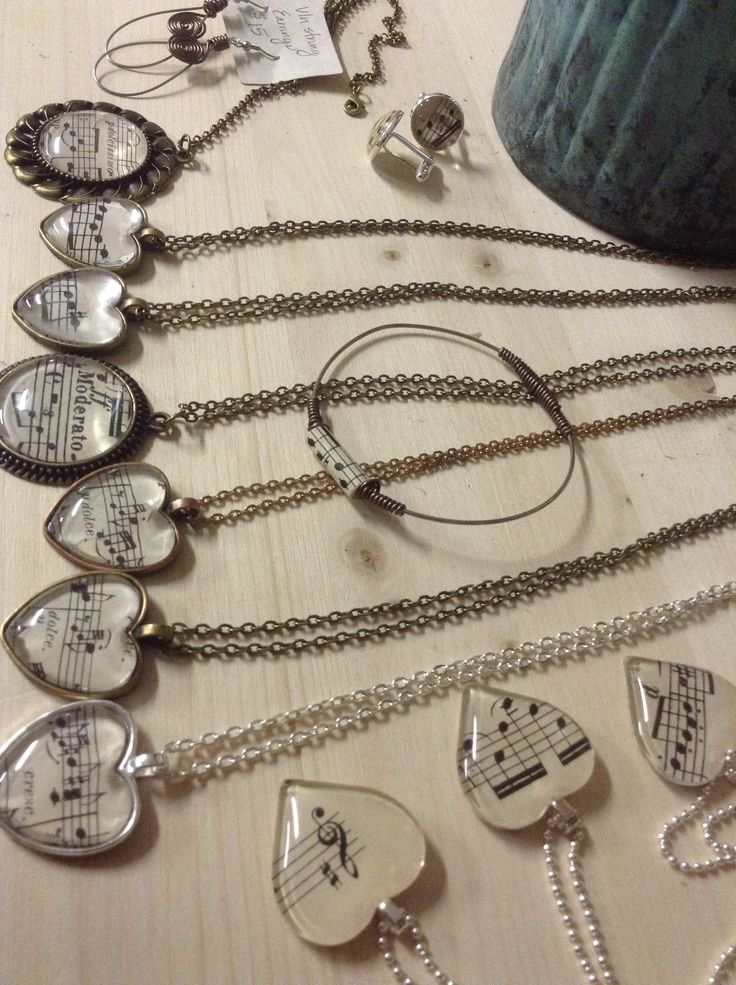 Music jewelry  http://www.etsy.com/shop/cimbacreations