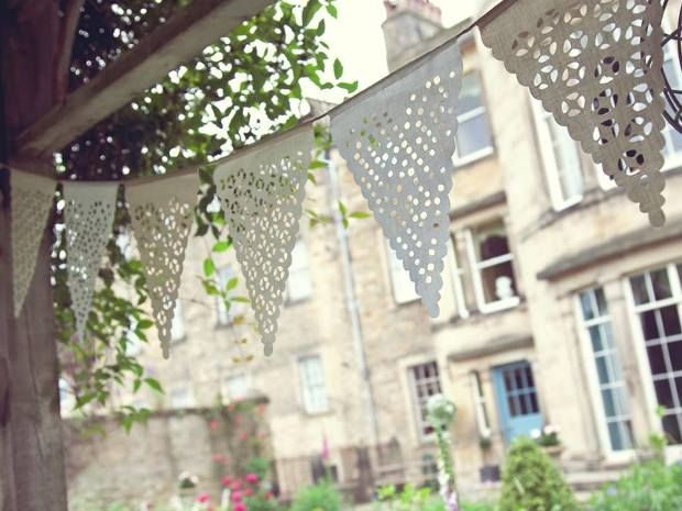 Decorate your venue in style with this #rustic #bunting from Baloolah Bunting. #rusticweddings #weddingdecor