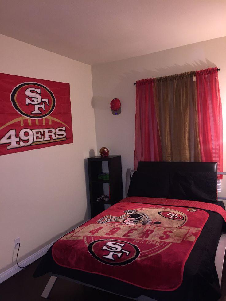 49er themed room done by me boys room pinterest for 49ers room decor