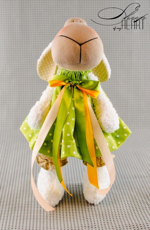 Handmade sheep, rug doll, DIY dolls