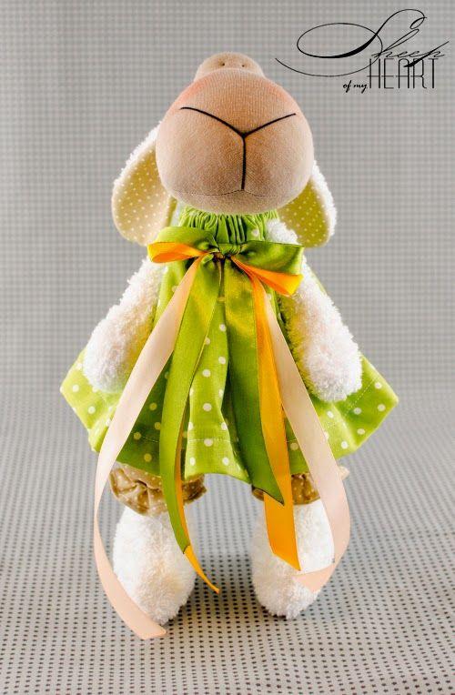 Handmade sheep, rug doll, DIY dolls