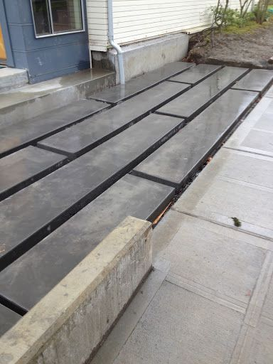 Rectangular concrete slabs stone paving pinterest for Garden decking and slabs