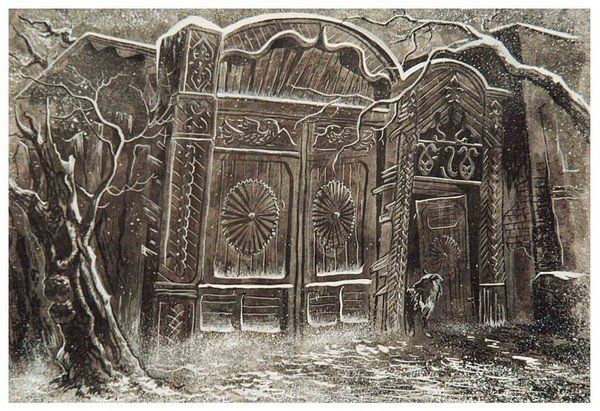 Картина Ольги Нагорной - Старые Ворота  /  Picture Of Olga Nagornoy - Old Gate