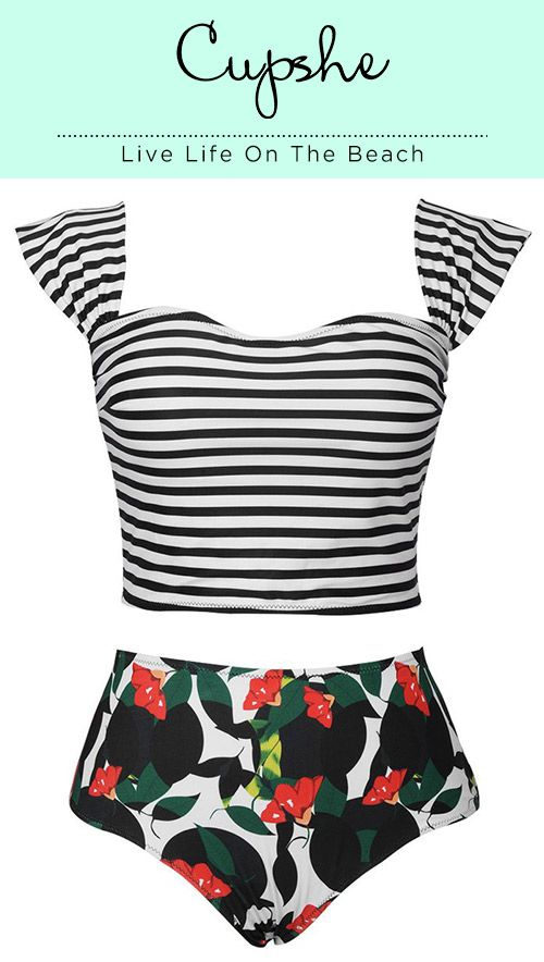 You'll still be loving summer if have this on beach. Soft fabric and comfy fit, it can optimize your comfort and beauty for hot days. Get some changes now from Cupshe.com