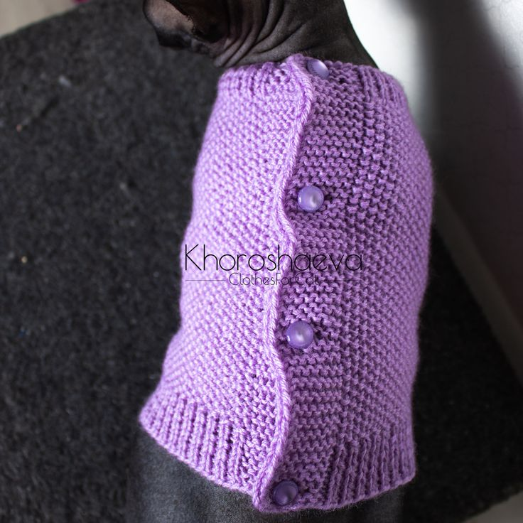 Cat Sweater With Buttons Size M Knitting Pattern PDF ...