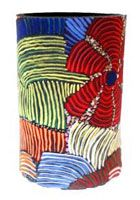 Utopia Can Cooler Pencil Yam Josie Petyarre Code:  COOL-UC/JP-PY   Price:  $9.00 or 3 for $25.00