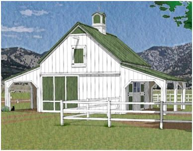 Best 37 horse barn plans and kits images on pinterest for 2 stall horse barn kits