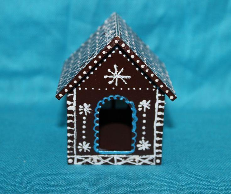 """новогодняя елочная игрушка """"Пряничный домик"""", ручная роспись"""