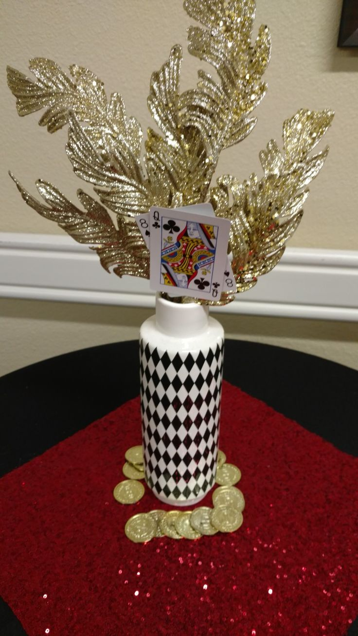 Best 25 Casino themed centerpieces ideas on