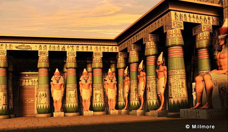 Luxor Tempel Court von Ramses II mit Stattuen by discoveringegypt.com