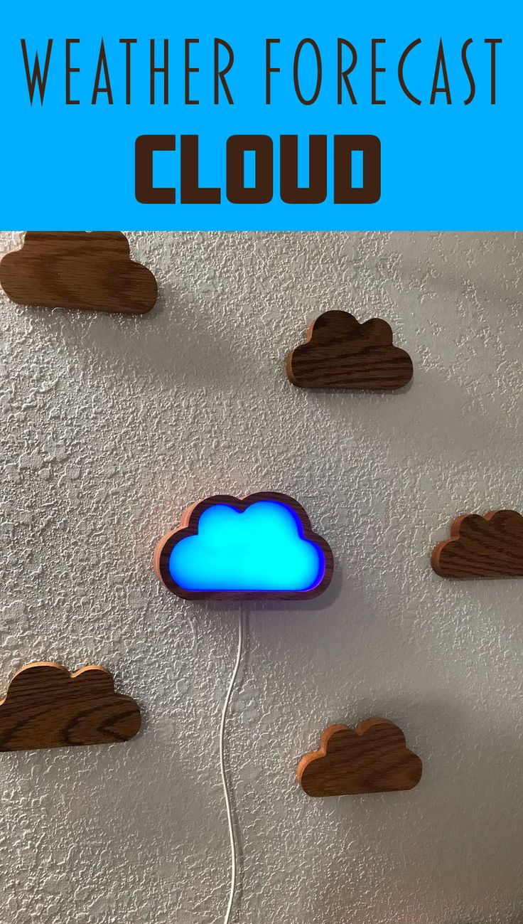This project makes a weather cloud using a Raspberry Pi Zero W. It connects to the Yahoo Weather API and depending on the forecast for the next day changes colors.