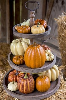 33 best images about tiered stand on pinterest pie pan for 3 tier pumpkin decoration